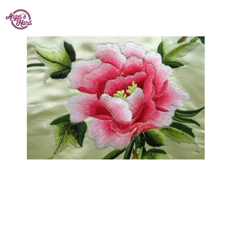 ANGEL'S HAND Full Diy diamond painting kit 3D cross stitch round Diamond deep pink flower embroidery Diamond Mosaic Crafts