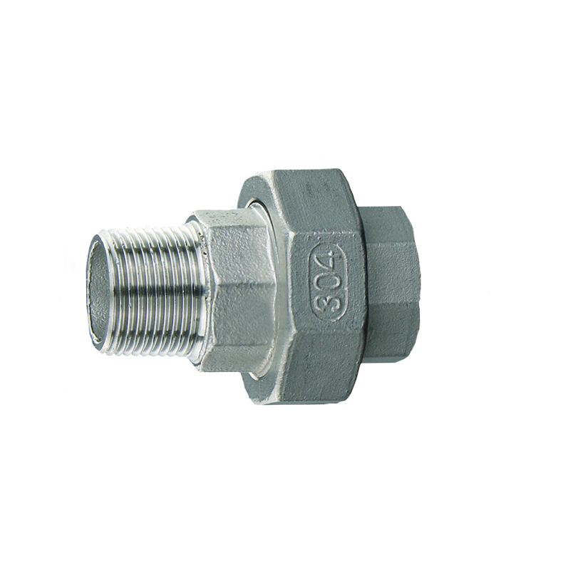 12 BSP Male x 12 BSP Female Thread 304 Stainless Steel Straight Union Pipe Fitting Connector For Water Oil Air