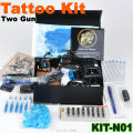 Professional tattoo kit + 2 pcs  Professional  guns machines+ Tattoo Power Supply+Tattoo Accessories