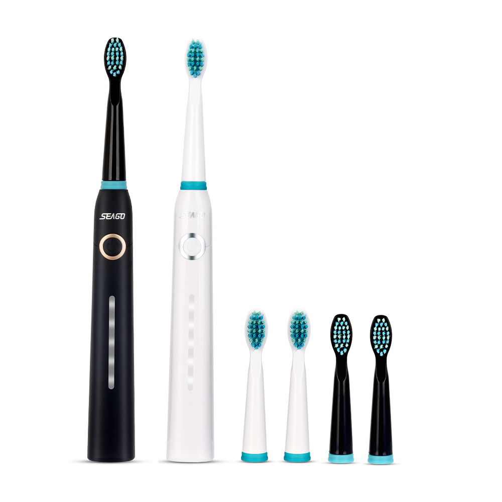 Seago Sonic Electric Toothbrush Rechargeable Waterproof USB Charger Timer Brush Teeth With 3 Replacement Tooth Brush Heads portable electric sonic toothbrush for adults waterproof rechargeable tooth timer teeth brush with 4pcs replacement heads 44