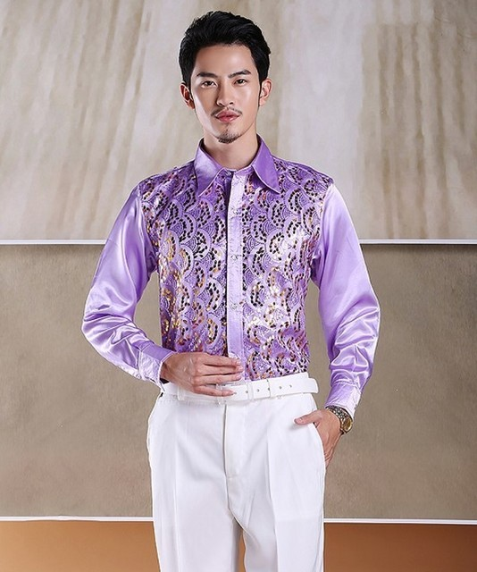 93364422a03e0d White Red Pink Yellow Hot Pink Roral Blue Sky Blue Lilac Shirt Custom Made  Silk Men Wedding Groom Bridegroom Man Shirts CS22