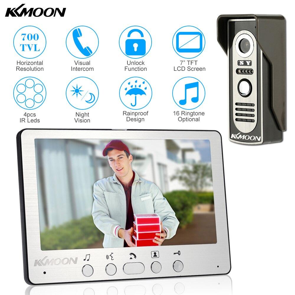 700TVL KKmoon 7'' Visual Doorbell Intercom with Outdoor Monitoring and Camera Support 1