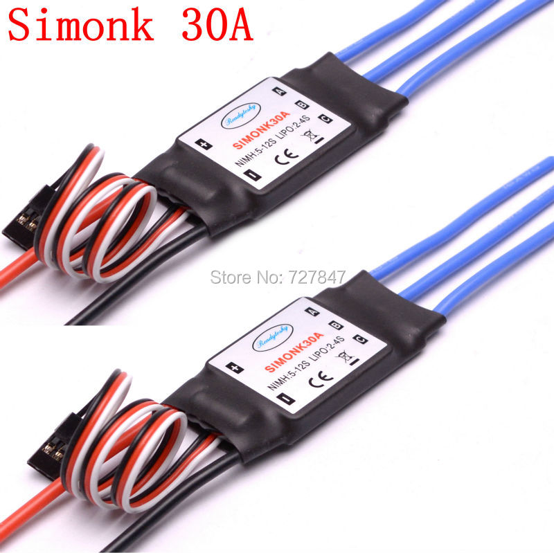 2 PCS 30A SimonK Prgramme RC Brushless ESC With BEC 2A For Axis Quadcopter Multicopter