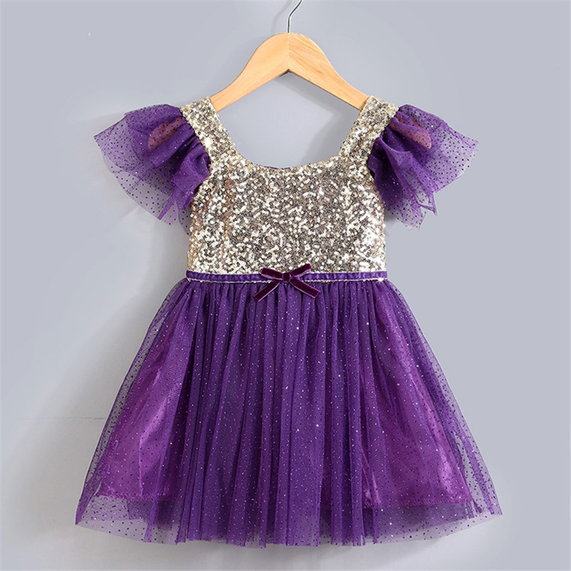 Toddler Girl Dresses Sparkle Sequin Baby Clothes Girl 2nd ...