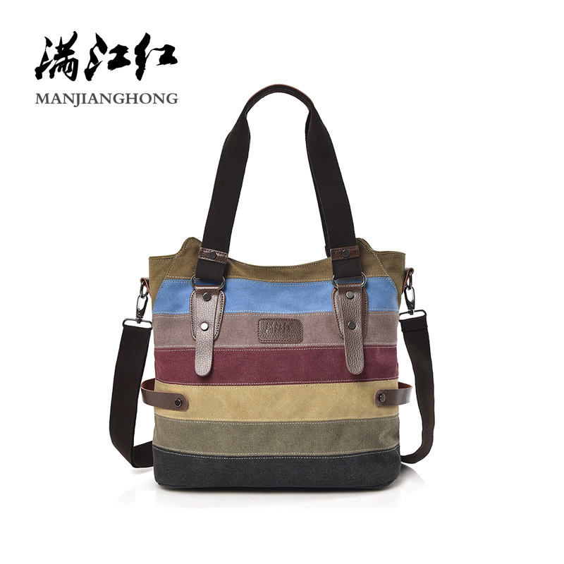 Vintage Patchwork Canvas Women Messenger Bags Colorful Tote Shoulder Bag Women Casual Crossbody Bags For Ladies Handbags 1439 цены