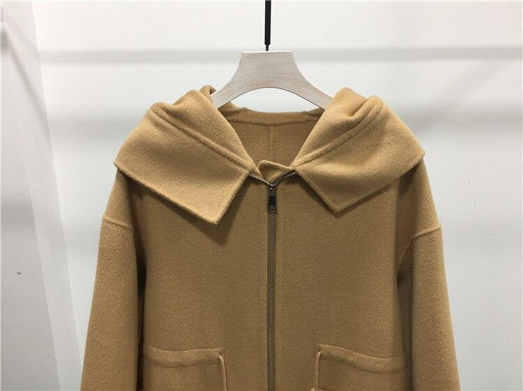 D'hiver Laine Main Outwear De Designer Survêtement Manteau Qualtiy Haute Mode Corée Marque Femmes Étoiles 2018 Nouveau TvSqHffw