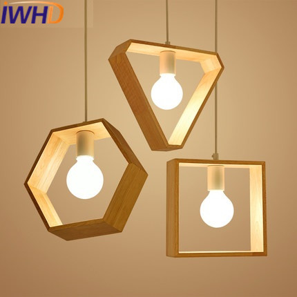 IWHD Nordic Style Wood Pendant Lights  Modern LED Hanging Lamp Simple Bedroom Lampara Kitchen Luminaire Suspendu Home Lighting iwhd black iron hanging lights nordic style loft retro vintage pendant lamp kitchen luminaire suspendu home lighting fixtures