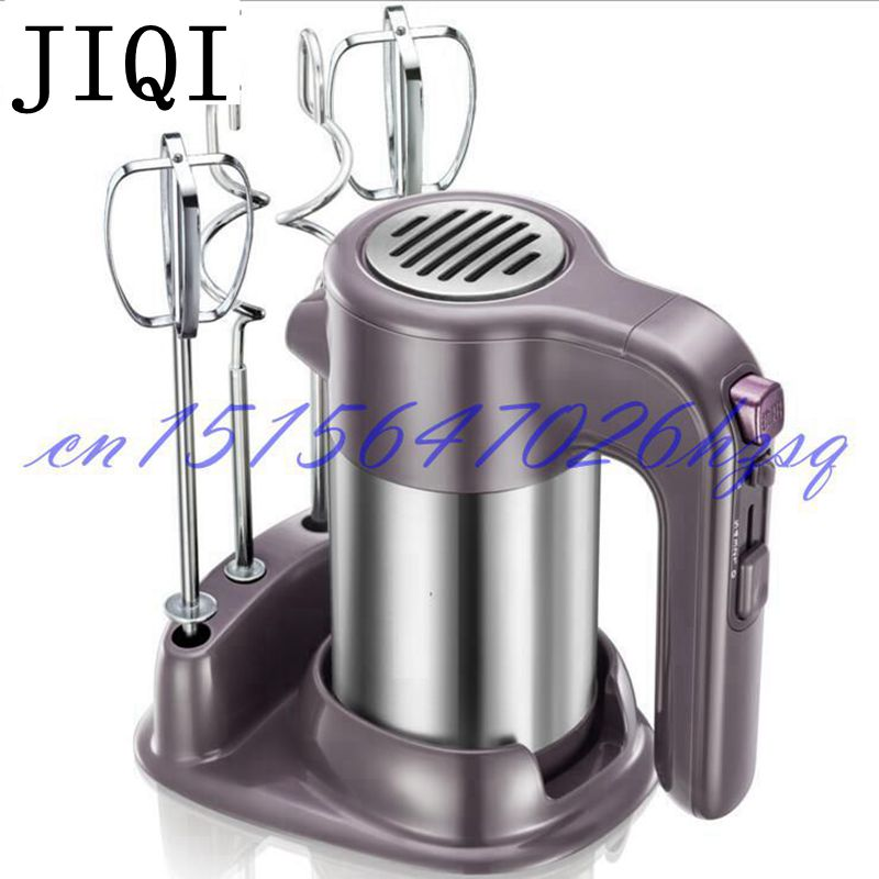JIQI 220V Household Electric Hand Food Mixer Operated Mini Cream Mayonnaise Frother Mixer Maker Food Blender bear 220 v hand held electric blender multifunctional household grinding meat mincing juicer machine