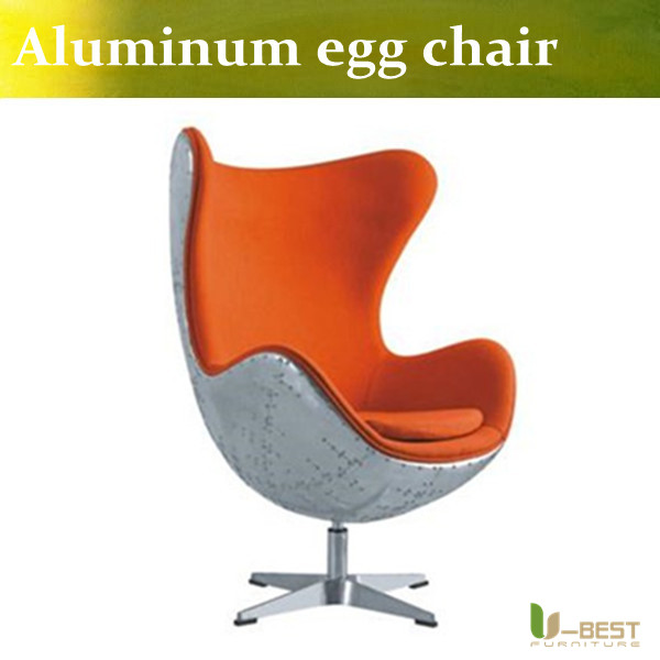 u best leisure arne jacobsen egg chair in red wool aluminum egg pod chair for the lobby and reception areas of the royal hotel U-BEST loft interior design inspiration Classic Style Loft aluminum Egg Chair,retro designer  egg pod chair