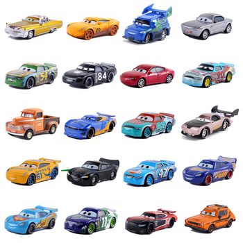 39 Style Disney Pixar Cars 3 Diecast Metal Car Lightning McQueen Mater Crazy Crashed Party Car Model Kids Birthday Gift image