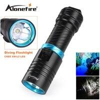 Alonefire DV30 Portable 2000LM CREE XM L2 LED Waterproof Torch Flashlight Light Scuba 100m Underwater Diving