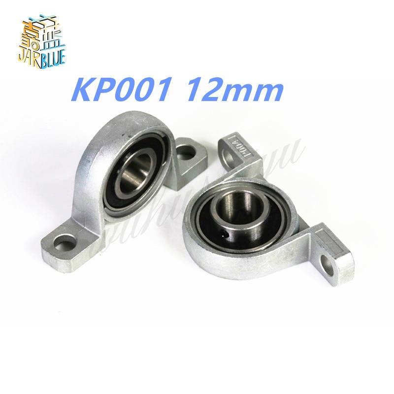 цена на 2Pcs Pillow Block Bore KP001 12mm Inner Diameter Zinc Alloy Metal Ball Bearing 12MM KP001