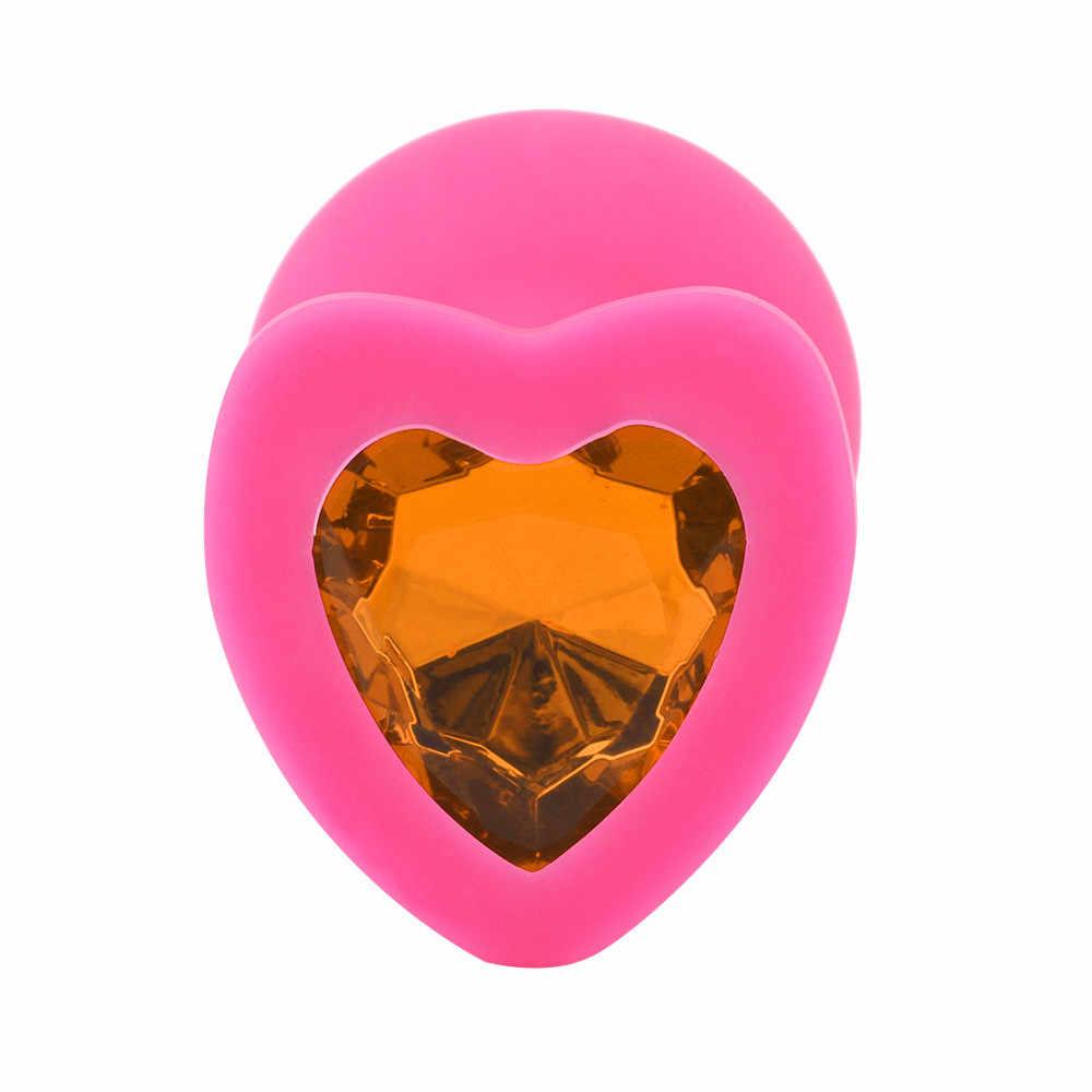 1 шт. в форме сердца база с ювелирные изделия камень по дню рождения Butt-Anal-Play Rose Jewel секс Технические характеристики интимные товары для мужчин женщина