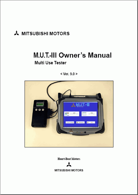 MUT-III Diagnostic Software PRG16061_00  Asia For Mitsubishi