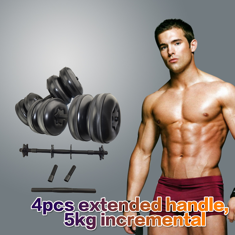 ФОТО 2017 Newest High Quality Adjustable Dumbbell Sets Water Filled Barbells Eco-friendly Crossfit Equipment for Weight Loss