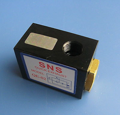 SNS QE-02 1/4 Inlet Outlet Ports Air Quick Exhaust Valve pneumatic quick exhaust valve qe 01 qe 02 qe 03 qe 04 page 4