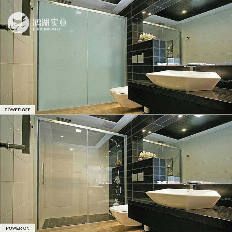 Échantillon de 305.8mm x 152.4mm pour tester le Film intelligent blanc auto-adhésif maison salle de bains porte coulissante auto-contrôle de confidentialité