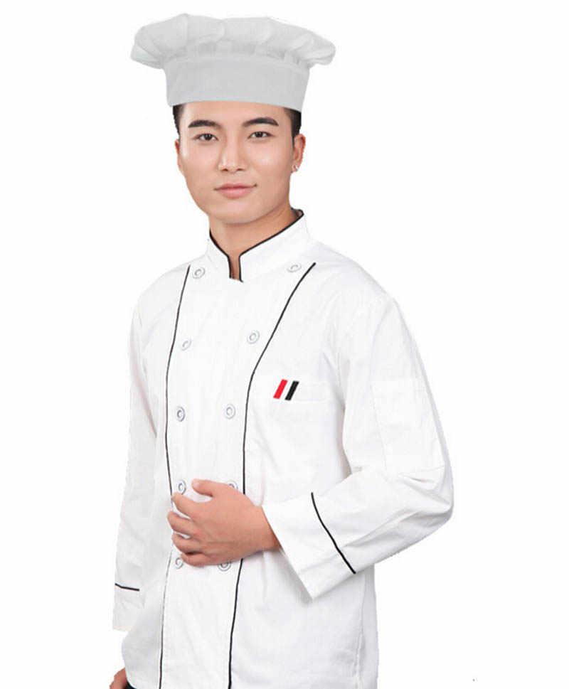 Gorąca sprzedaż czapka beanie z dzianiny na zewnątrz pom pop przebranie na narty Party Baker Cook gotowanie grill kuchnia biała czapka szefa kuchni CapY423