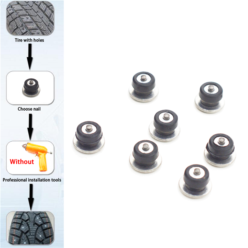 Car Tires Studs Spikes Wheel 12x9mm Snow Chains For Car Vehicle Truck Motorcycle Tires Winter Universal 100pcs set in Snow Chains from Automobiles Motorcycles