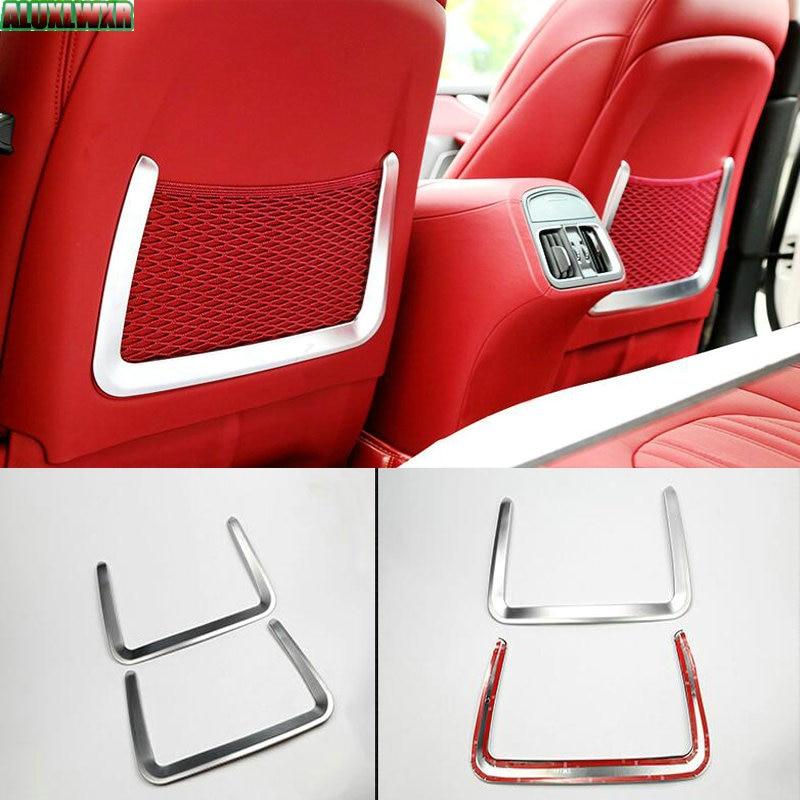 цена на Car Interior Rear Seat Storage Decorative Cover trim fit for Maserati LEVANTE 2016 2017 car Accessories car-styling automobiles