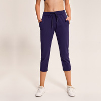 Women Running Pants Gym Workout Loose Calf Length Pants Jogging Sportswear Female Training Fitness Sport Trousers With Pockets