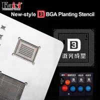Kaisi 3D IC Chip BGA Reballing Stencil Kits Set A8 A9 A10 Stencil Tin Plate Hand