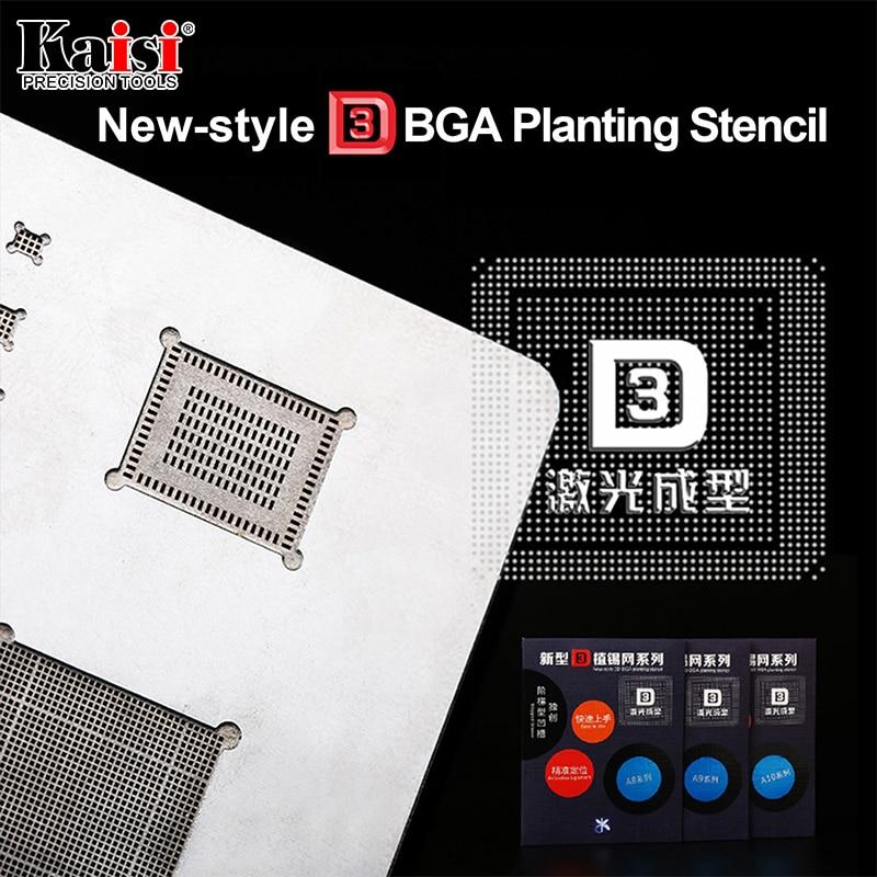 Kaisi 3D IC Puce BGA Rebillage Pochoir Kits Ensemble A8 A9 A10 A11 pochoir plaque d'étain outils à main pour iPhone 6 SPlus 7G X 8G 8 P série