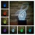 3d de La Lámpara Luz de La Noche de ilusión Noche 7 Cambio de Color Lámpara de Escritorio de Tabla Del Interruptor Del Tacto LLEVÓ la Luz Luz de La Noche Para Los Niños
