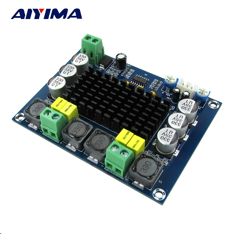 Aiyima TPA3116 Dual-channel Stereo High Power Digital Audio Power Amplifier Board TPA3116D2 Amplifiers 2*120W Amplificador DIY tda7297 version b 2x15w amplificatore stereo digital audio amplifier amplificador module board dual channel ampli electro 9 15v