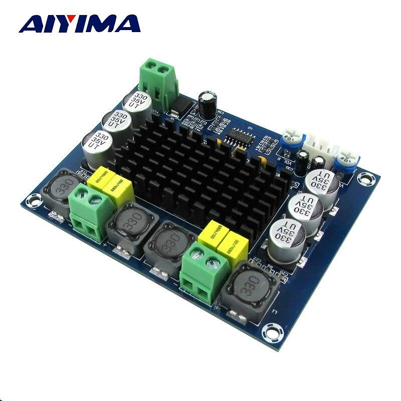 Aiyima TPA3116 Stereo a Due canali Amplificatori Ad Alta Potenza Digital Audio Bordo Dell'amplificatore di Potenza TPA3116D2 2*120 W Amplificador FAI DA TE