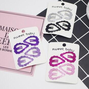 2019 New 4 Pcs Girls Hair Clips Cute Sequins Design Hair Pin Set Children Hairpin Princess Hair Accessories