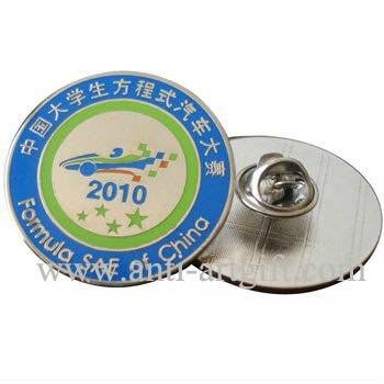 Пользовательский клуб твердого эмалированный металлический бэйдж шпильки круглой формы штампованные имитация, жесткие, покрытые эмалью эмблема Нет MOQ 28,6 мм высокого качества