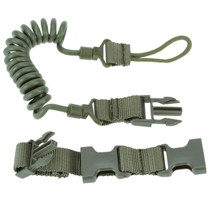 Image 2 - Tactical Rifle Sling Adjustable Bungee Tactical Two Point Airsoft Gun Strap System Paintball Gun Sling