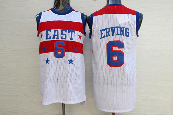 7cbffdc9 Julius Erving EAST all star Basketball Jersey 6 XXS-XXL Embroidery Stitched  US Size
