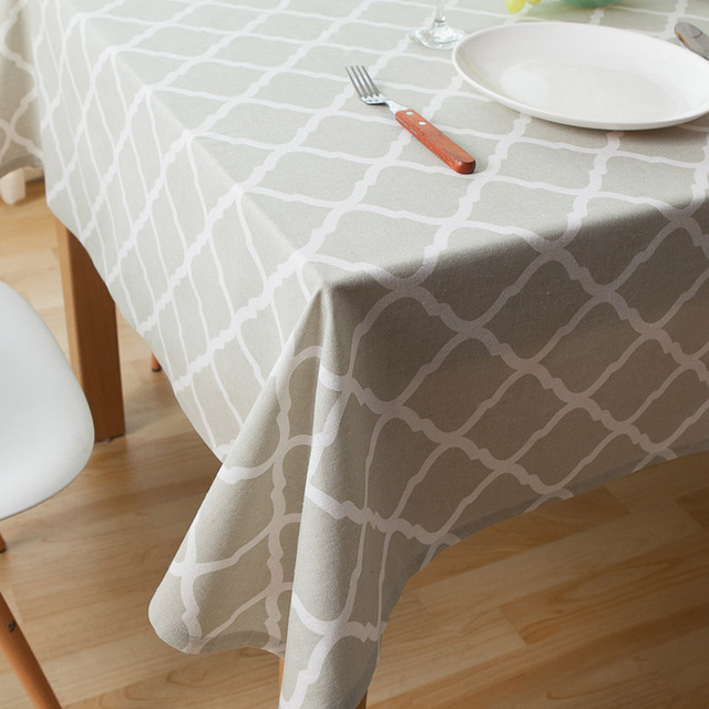 Rectangular Tablecloth Gridding Table Cloth Linens Cotton Printed Larger Tablecloths  Napkins Decoration Fabric for Home Dinner
