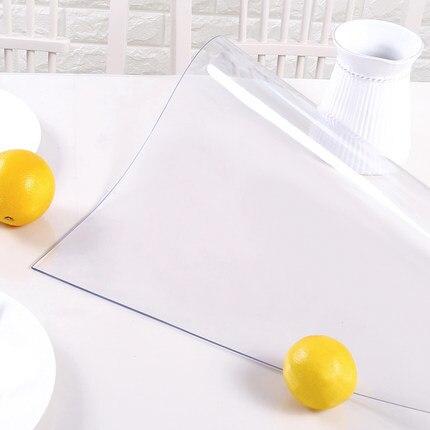 1.0/1.5/2.0mm Transparente E Fosco PVC Vidro Macio mesa de café de pano Toalha de Mesa tapete de Plástico À Prova D' Água Oilproof Anti Quente