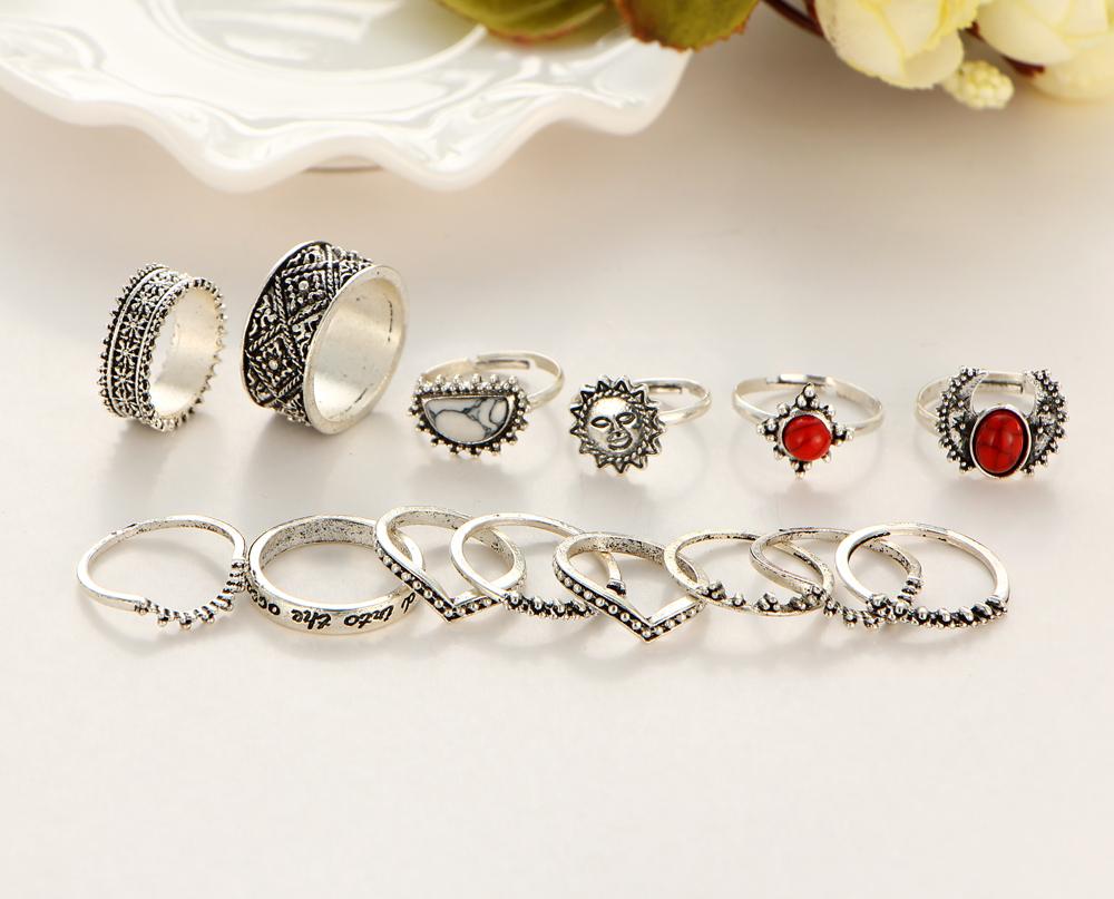 HTB1pKfrQXXXXXalXXXXq6xXFXXXn Hip 14-Pieces Tribal Boho Vintage Silver Moon And Sun Knuckle Ring Set For Women