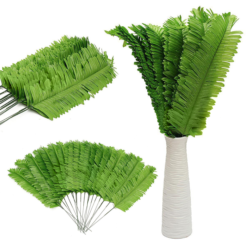 Online buy wholesale artificial palm leaves from china for Artificial leaves for decoration