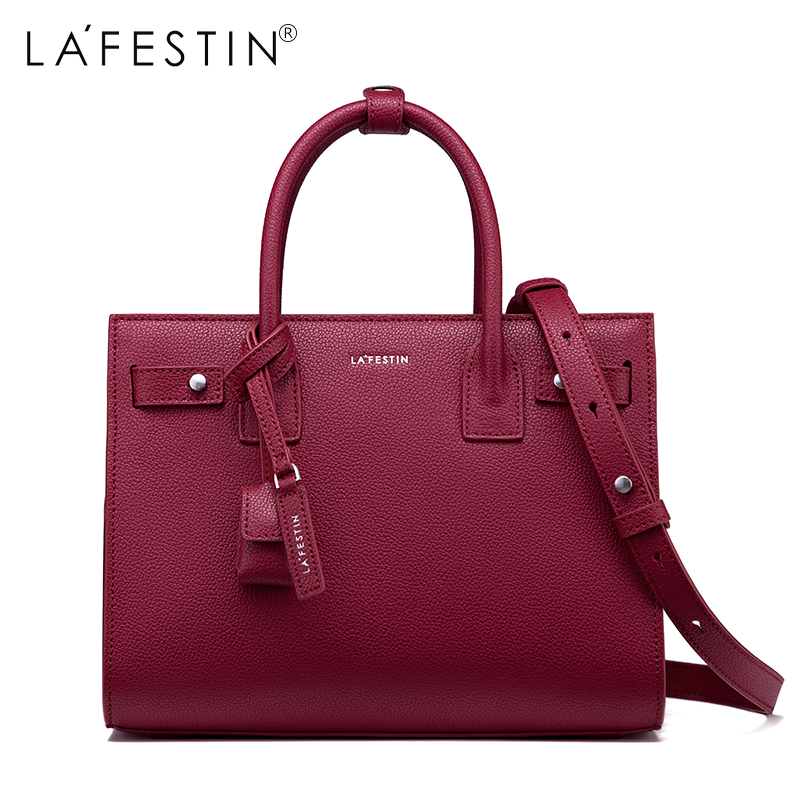 LAFESTIN Women Handbag Genuine Leather Tote Handbags Luxury Multifunctional Versatile Bag Ladies luxury handbags designer bag