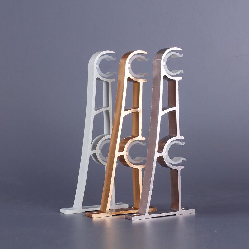 Aluminum Curtain Rod Thickened Roman Pole Single Double