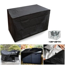 Black Waterproof Outdoor Patio Garden Furniture Covers Rain Snow Chair covers for Sofa Table Dust Proof Cover 126*126*74cm