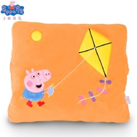Peppa Pig toy genuine Peggy Pepe pig warm hand pillow Peggy George multi function plush warm hand pillow cushion toys