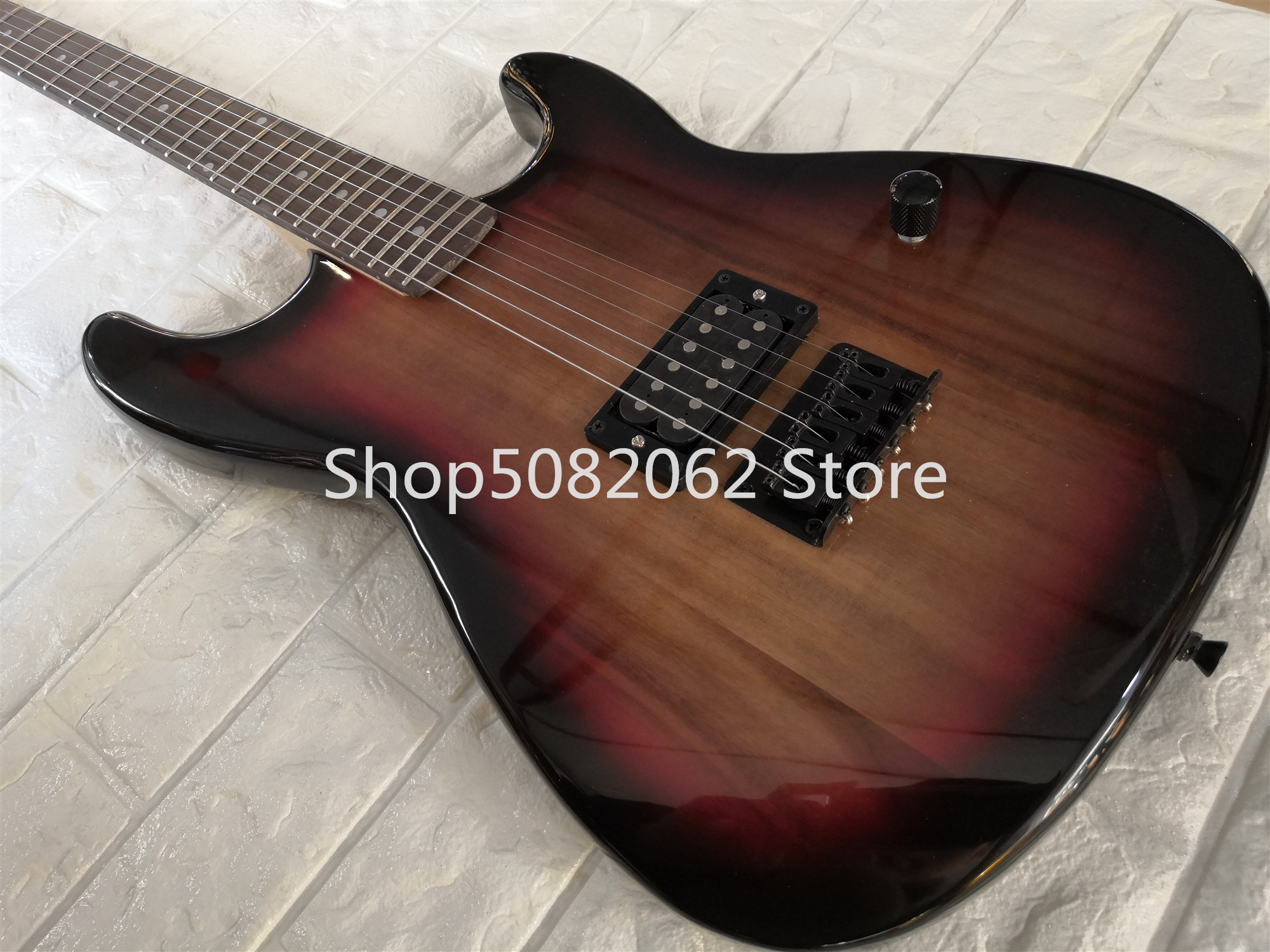 Factory Custom TS color str Guitar with Rosewood fingerboard,Black Hardware,1 H Pickup,customized!S-28(China)