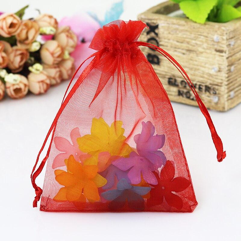 a483ba52a 1000 pçs/lote Red Organza Saco 7x9 cm Pequeno Presente de Decoração de  Casamento Sacos Do Favor Sacos de Jóias de Embalagem de Presente Doces Tule  saco de ...