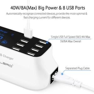 Image 2 - 8 Cổng USB Đa Năng Sạc Hub Sạc Nhanh Quick Charge 3.0 Sạc Di Động Điện Thoại Thông Minh Đế Sạc Dock Dock Điện Thoại Thông Minh Dành Cho Samsung 9
