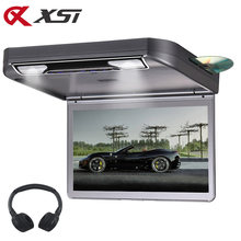 XST 13.3 Polegada MP5 DVD Player Flip Down Montagem Do Telhado Monitor de Teto Do Carro de Vídeo 1080P HD Digital Tft USB/SD/HDMI/MP5/IR/FM(China)