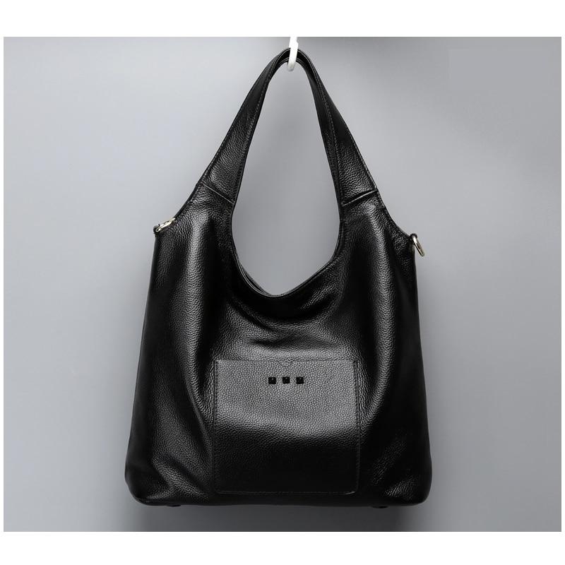 2016 new fashion genuine leather bag women leather handbag popular women shopping bag he ...