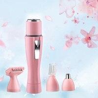 4in1 Ladies Electric Shaver Portable Multifunction Epilator Eyebrow Body Nose Facial Shaver Razor Hair Remover Cutting