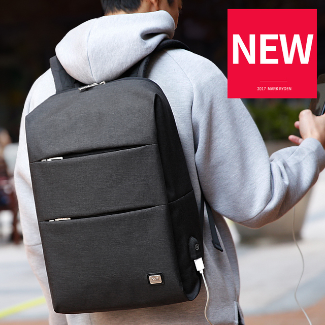 Mark Ryden New Men Backpack For 15.6 inches Laptop Backpack Large Capacity Stundet Backpack Casual Style Bag Water Repellent 4