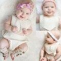 Branco Babys Bonito Bodysuits Toddles Bodysuits Sem Encosto Verão Crianças Sólidos Crianças Roupas Casuais Frete Grátis